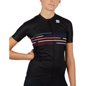 Sportful Vélodrome Short Sleeve Jersey Women, czarny